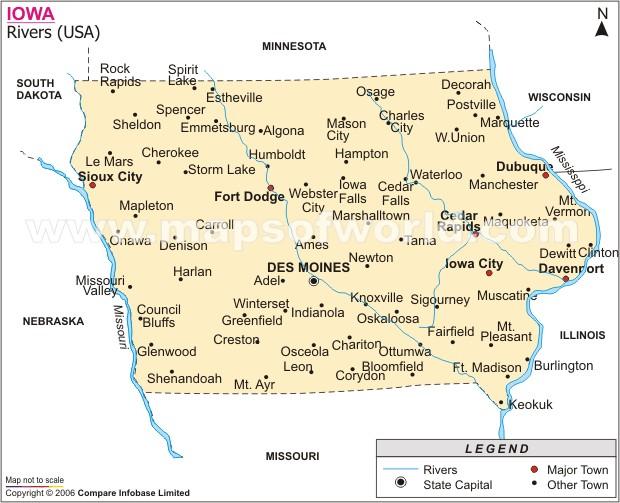 Meet Me In Iowa Orgtheorynet - Iowa river map
