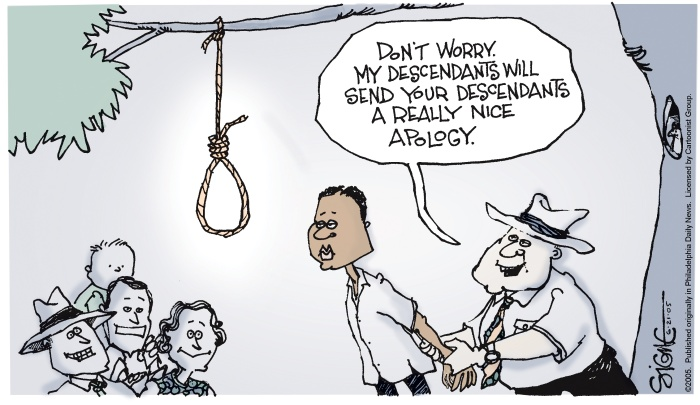 An example of a political cartoon from 2005